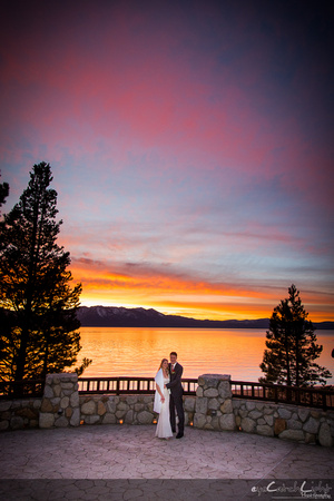 South Lake Tahoe Sunset Wedding - Cupertino Wedding Photographer