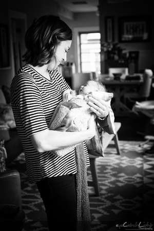 Palo Alto Newborn and maternity photographer - little Maeve with her family and her loving mom!
