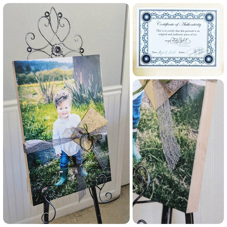 Children's Photography displayed as Wooden Wall Art Portrait
