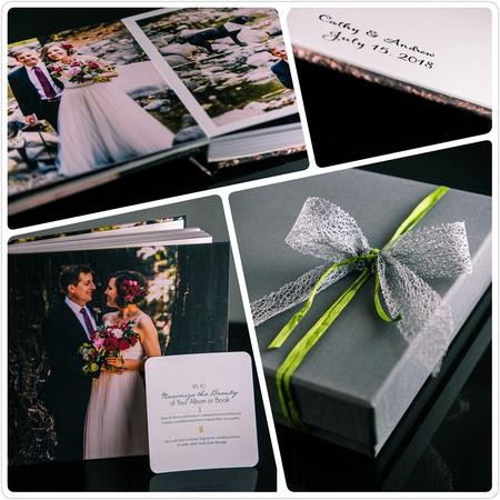 Wedding Heirloom Album of Saratoga Springs Redwood Wedding - Cathy and Andrew