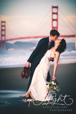 Today was such a happy day - I delivered Whitney's and Jeff's wedding folio box and album.After their breathtaking San Francisco City Hall wedding ceremony we went to Baker Beach for beautiful ocean s