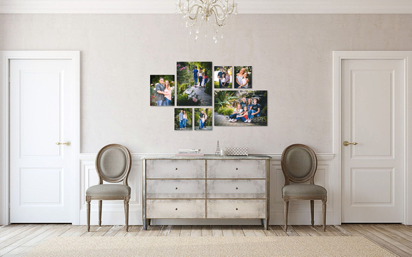 Family wall art collection in Oakley rustic gardens