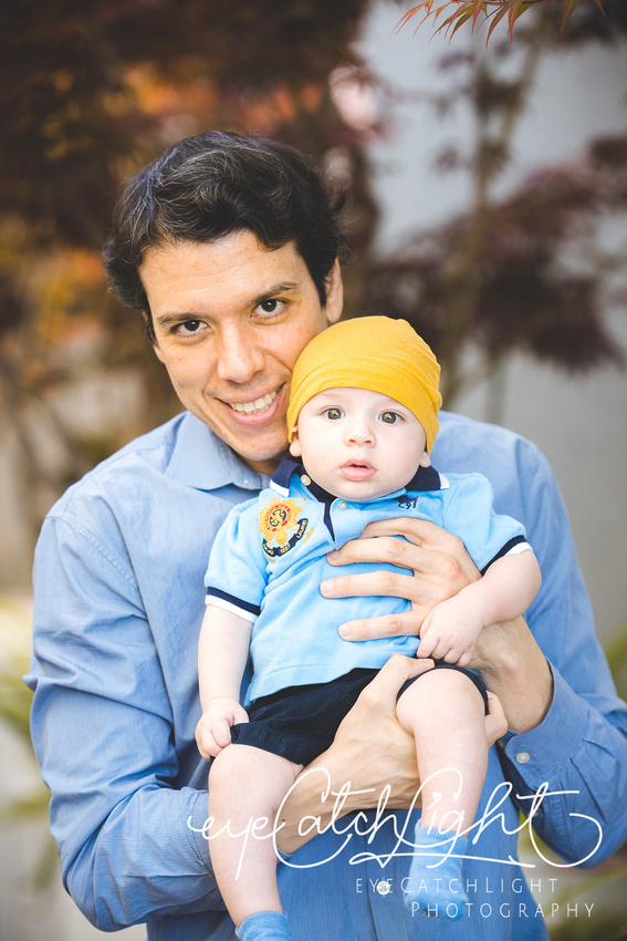 Baby Sandor with his dad - Santa Cruz Family Photographer
